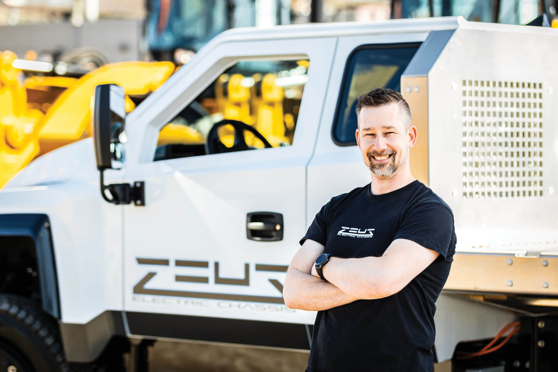 Zeus Chassis with founder, Bob Grinstead