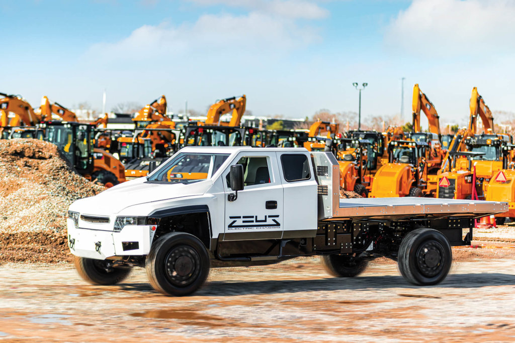 Zeus is a leading class 4-6 purpose-built, severe-duty, electric work truck solution in North America.